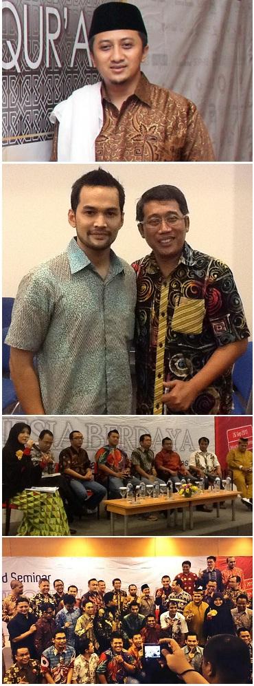 Pembicara dan peserta Grand Seminar Indonesia Berdaya: Ustadz Yusuf Mansur, Teku Wisnu dan para motivator dan peserta umum lainnya.
