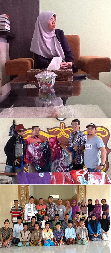 Keterangan foto: Mursida Rambe, Nugraha (makelar online), saya, Karman (pemilik Sidji batik) dan Among Kurnia Ebo (Pengusaha dan Mentor bisnis). Bersama santri dan pendiri Pesantren Yatim dan Dhuafa Ad-Dhuha Jogyakarta.