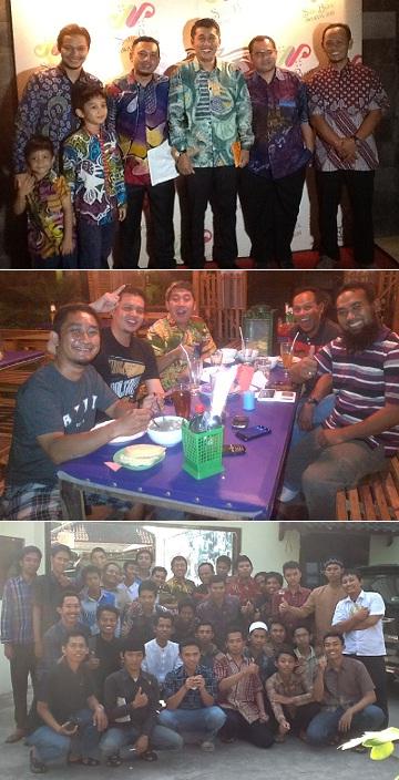 Dari atas ke bawah: Bersama Hanafi Rais, Karman, Jay Teroris dan Kusnadi. Menikmati Sop Janda Kembang bersama pemilik restonya. Bersama para calon pengusaha Pesantren Wirausaha.