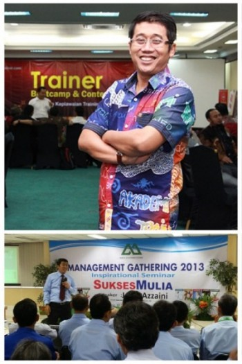Jamil Azzaini dalam Trainer Bootcamp di Mirah Hotel; Salah satu sesi Event Management Gathering 2013 Mulia Group.