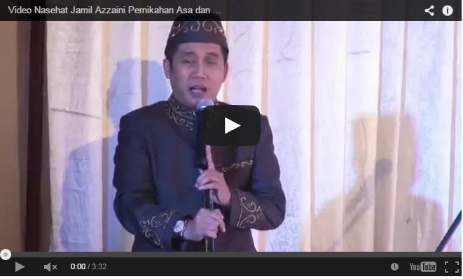 Nasehat Jamil Azzaini di Pernikahan Asa dan Nabila