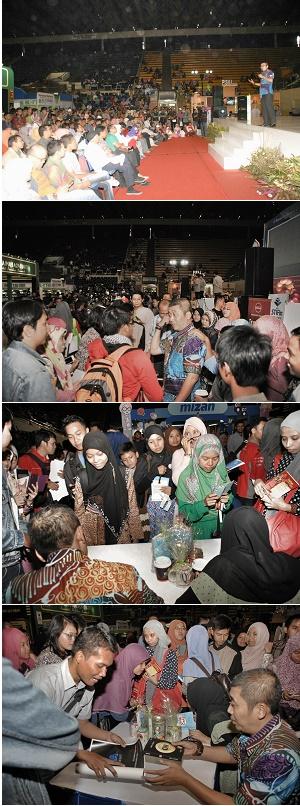 """Suasana launching buku terbaru saya, """"A Tribute"""", di acara Islamic Book Fair, Istora Senayan Jakarta, 7 Maret 2015."""