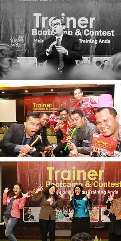 atas-bawah: (1) Master Trainer Jamil Azzaini dalam salah satu sesi TBNC #13 (2) Peserta TBNC #13 seru & kreatif  (3) Aksi Peserta TBNC #13 yang bersemangat
