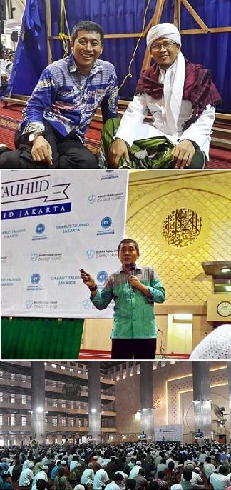 Berfoto dengan Aa Gym, K.H. Abdullah Gymnastiar, saat mengisi Kajian Tauhid di Masjid Istiqlal tahun lalu, Ahad, 13 April 2014. Kemarin, 12 April 2015, kembali saya menemani Aa mengisi Kajian Tauhid di Masjid Istiqlal (bawah).