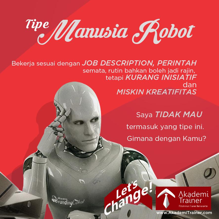 Meme Quote JA Tipe manusia robot AT