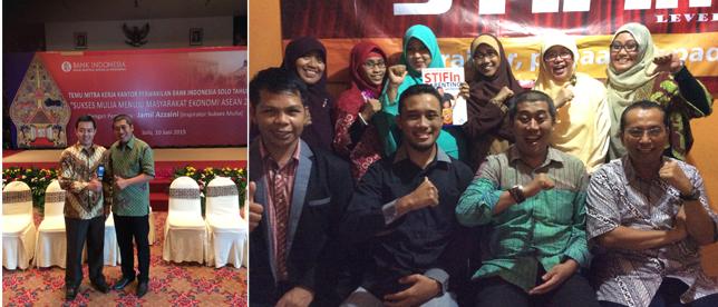 Saat akan tampil di Bank Indonesia di Solo,  Jamil Azzaini berbagi di Workshop STIFin Level 1.
