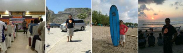Usai mengisi seminar di Indo Power, lanjut belajar surfing dan menikmati sunset di Bali.