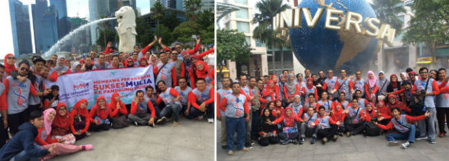 Rombongan Kubik Group di Singapore: Membawa Peradaban SuksesMulia ke Panggung Dunia.