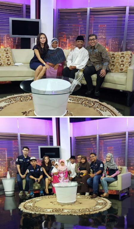 Yolandi, saya dan crew Meja Bundar TVOne.